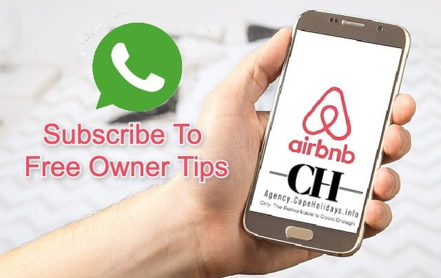 Owners subscribe to airbnb management and marketing tips at Agency.CapeHolidays
